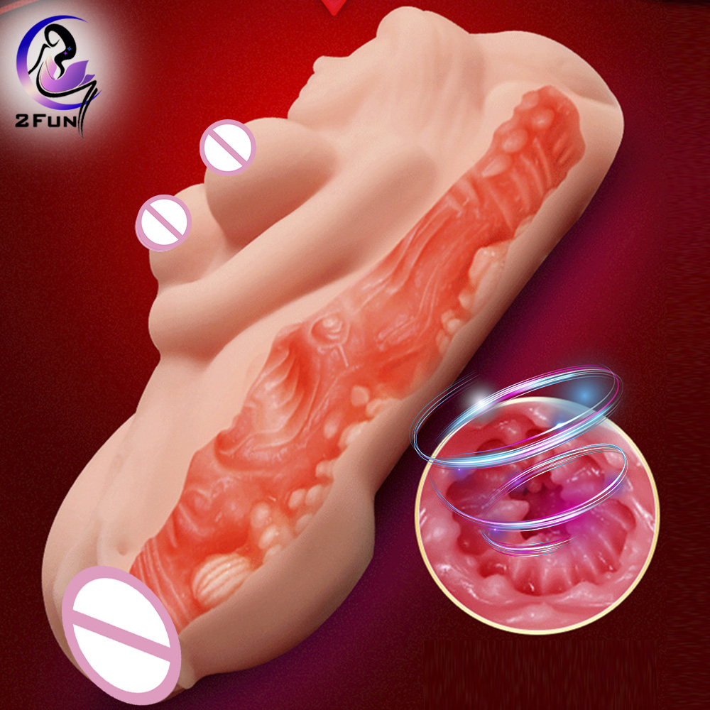 Soft Pussy Male Masturbator Cup Realistic Artificial Vagina Real Pocket Pussy Toys For Men Industrial Vagina For Men Caning Tpe