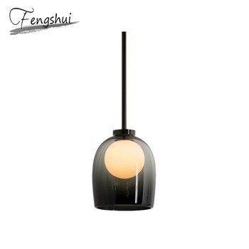 Nordic Iron Hanglampen Lamp Glas LED Hanglamp Woonkamer Eetkamer Nachtkastje Slaapkamer Bar Loft Decor Opknoping Lamp