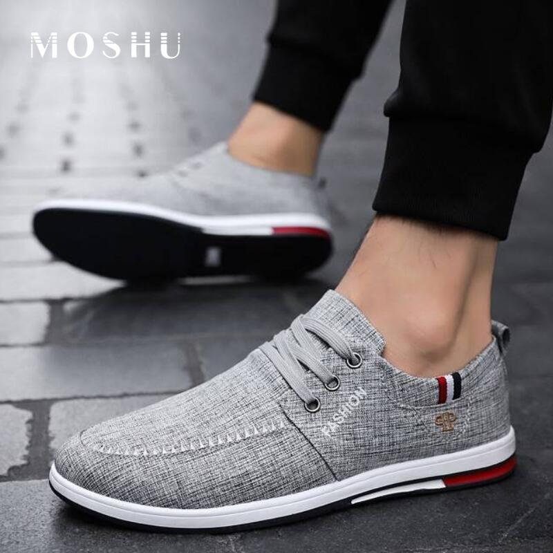 Man Sneakers Summer Canvas Loafers Slip On Shoes Men Casual Shoes Driving Flats Black Mocassin Homme Male Shoes Adult