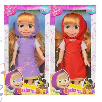 masha 36cm music and light masha Cute Girl Dolls Popular Russian Masha Kids Toys Birthday Gift