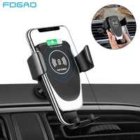 FDGAO Wireless Car Charger Mount Auto Clamping Phone Holder 10W Fast Charging for iPhone 11 Pro Xs Max XR X 8 Samsung S10 S9 S8