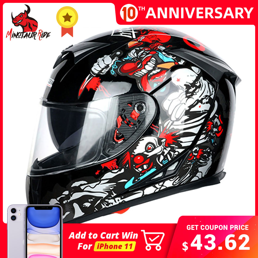 JIEKAI Motorcycle Helmet Full Face Casco Moto Double Visor Racing Motocross Helmet Motorbike Capacete Moto Helmets #