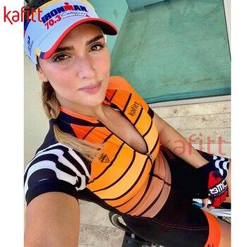 Kaffett nova camisa de ciclismo das mulheres terno manga curta roupas esportivas bicicleta de estrada montanha macacão macaquinho ciclismo feminino 1