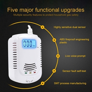Image 2 - Combustible Gas Detector Sensor Lpg Natural Gas Analyzer Leak Determine Tester Sound Light Alarm Security Alarm System (Eu Plug)