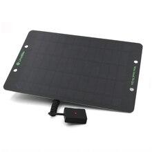 Taşınabilir 6W 10W güneş enerjisi şarj cihazı güneş panelleri şarj Usb portu ile pil gücü cep telefonları için 5V