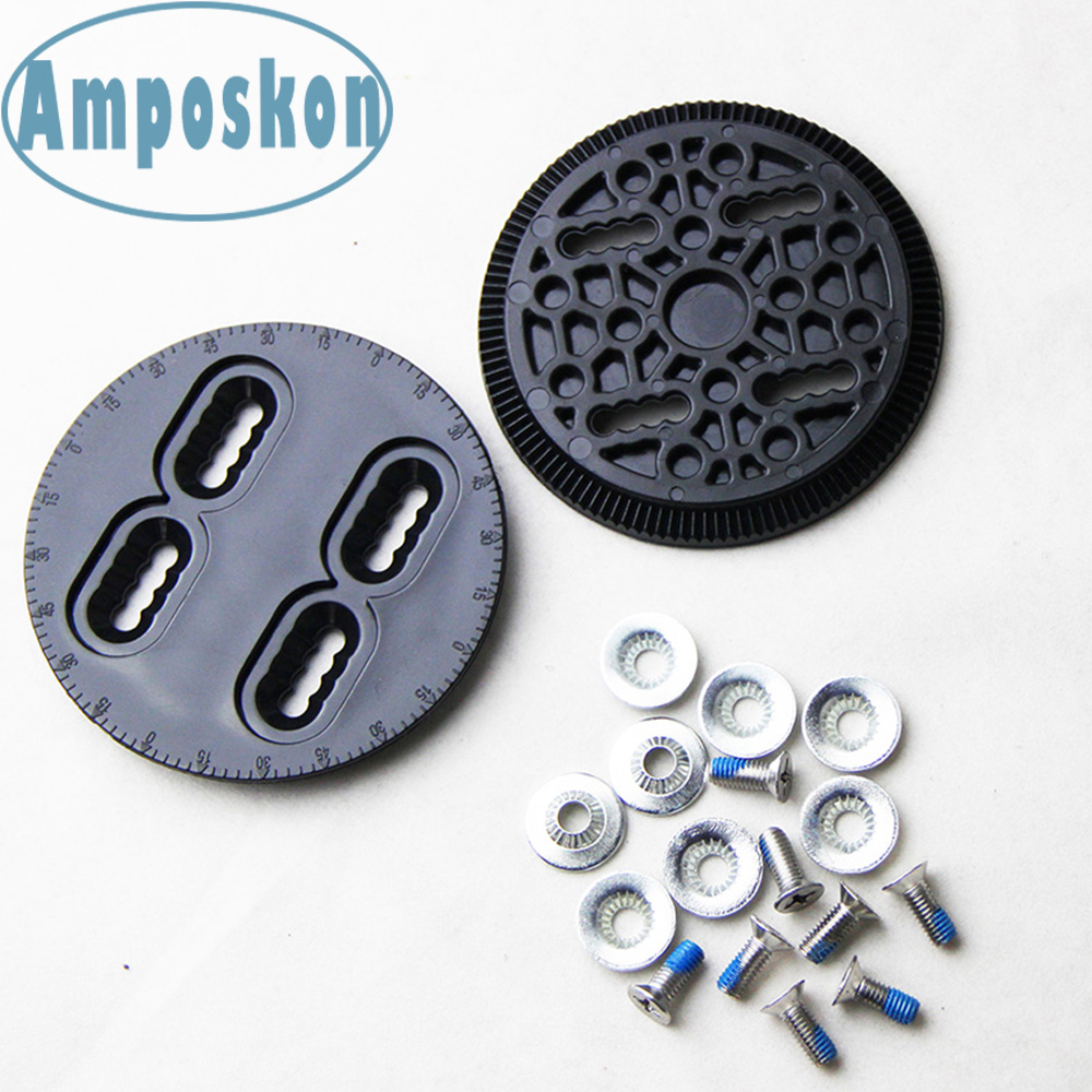 1 Set New Snowboard Binding Disc Black Spare Parts Mounting Plates Strap-In Technine Snow Board Accessories Outdoor Accessories