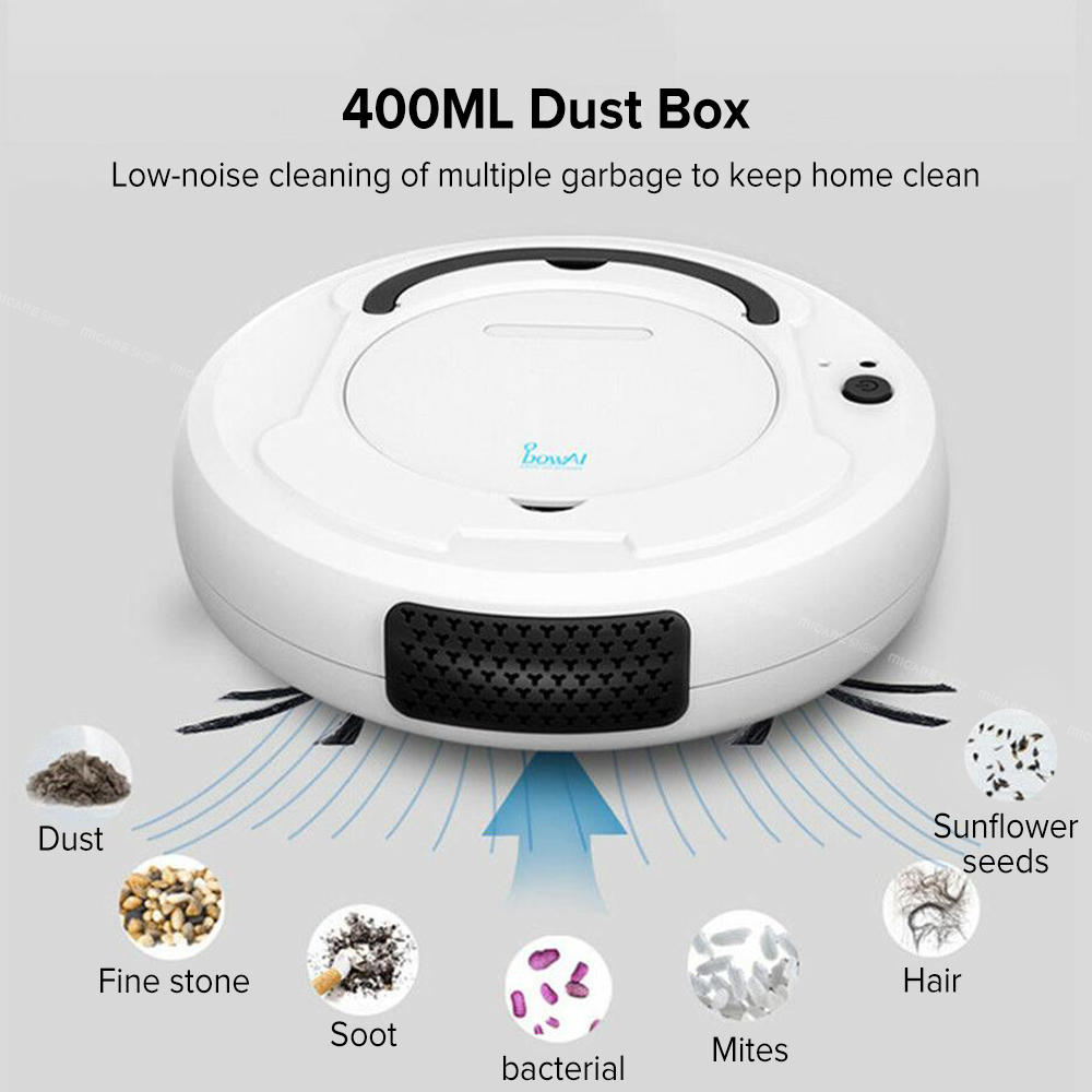 1800Pa Smart Auto Robot Vacuum Cleaner Multifunctional 3-In-1 Electric Rechargeable Wet And Dry Mop Sweeping Vacuum Cleaner
