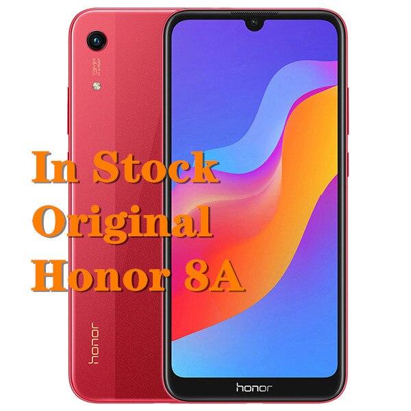 Оригинальный Смартфон Honor 8A, FHD экран 6,09 дюйма, Восьмиядерный процессор MTK6765, 3G ОЗУ 64 Гб ПЗУ, 3000 мАч, Android 9,0, телефон с функцией распознавания ли...