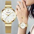 CURREN женские часы Роскошные модные кварцевые женские часы золотые водонепроницаемые женские наручные часы с браслетом аналоговые женские ч...