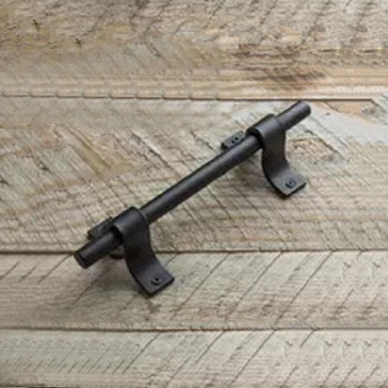 Retro Loft Industrial Black Door Handle Wood Barn Pull DIY Home Decor Elements|Door Handles| |  - title=