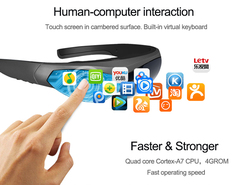 2020 Новые смарт-очки FPV видео очки K600 80 дюймов экран на голову дисплей захватывающая игра Android система WIFI BT4.0