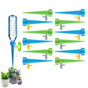 12Pcs/lot Automatic Irrigation Tool Spikes Automatic Flower Plant Garden Supplies Useful Self-Watering Device Adjustable Water