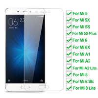 Cristal templado de dureza 9H para Xiaomi Mi 5 5X 5S Plus 6 6X A1, Protector de pantalla para Mi 8 A2 Lite Mi8 8 Pro SE