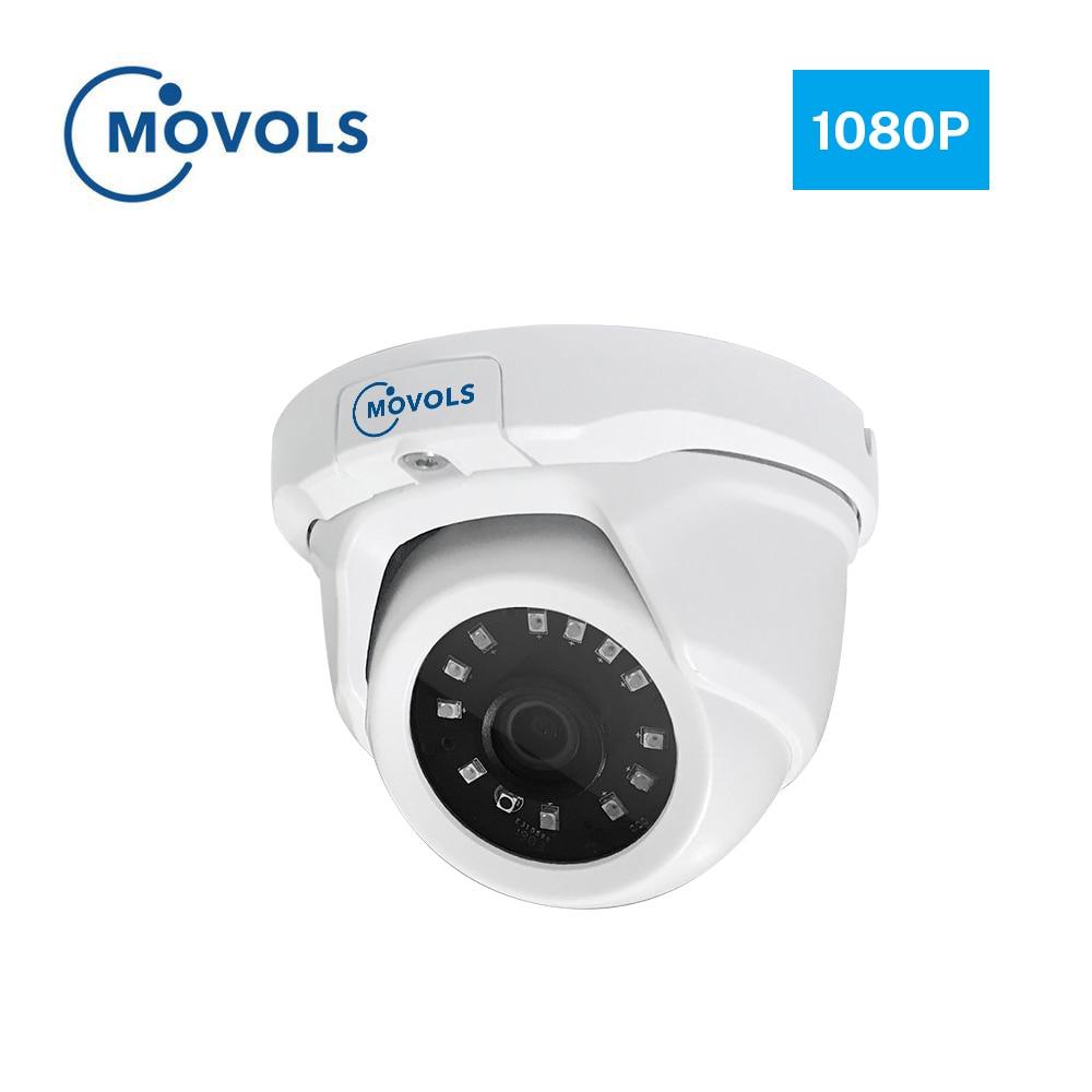 MOVOLS caméra de sécurité extérieure, caméra de sécurité en plein air 2MP AHD 1920x1080 TVI/CVI/CVBS, capteur Sony, caméra à dôme analogique en alliage d'aluminium