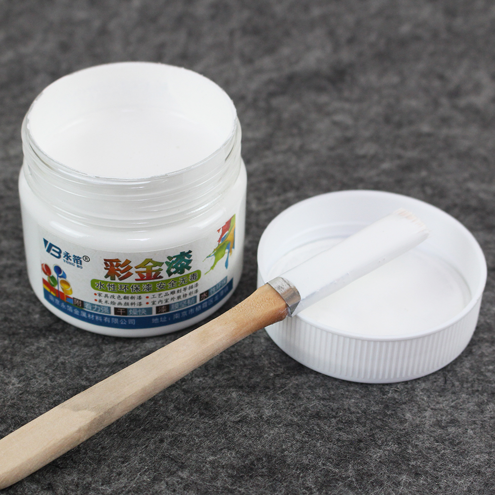 White Wood Varnish Acrylic Paint Water-based in Art Craft Wall Wooden&Iron Door for 100ml Furniture