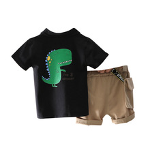 цена на New Summer Baby Boy Clothes Children Girls Cotton Cartoon T Shirt Shorts 2Pcs/set Toddler Casual Clothing Infant Kids Tracksuits