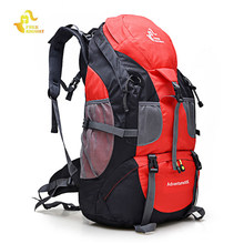 Gratis Knight 50L Climbing Hiking Molle Ransel Tahan Air Ransel Camping Trekking Gunung Ransel Olahraga Tas Travel(China)