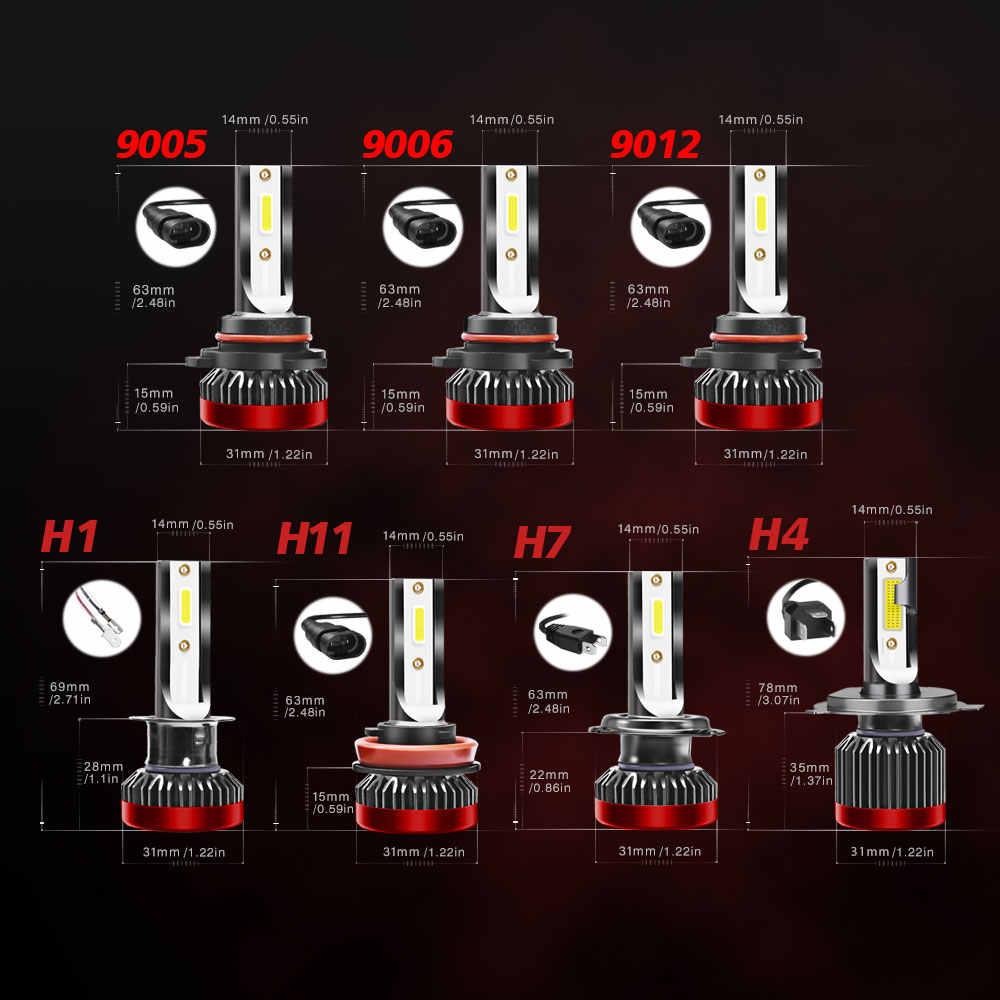 Super Bright Car Led Headlight 6000k G2R Light Bulbs LED Headlight Universal H7 H4 H8/H9/H11 9005 9006 LED Fog Light