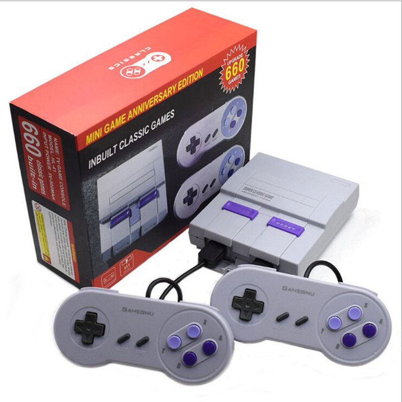 Coolbaby New 8 bit Video Game Console Built in 660 Game Console with Wired Gamepad For SNES SFC Game