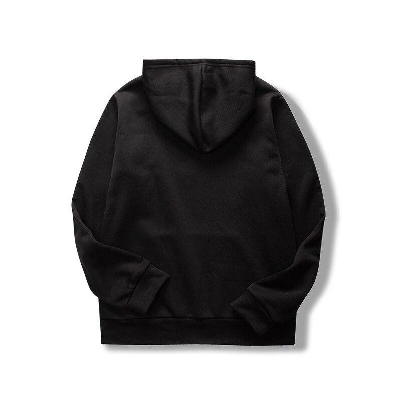 19 women's long-sleeved plain hooded sweatshirt plain multi-color men's and women's casual pullover hoodie 25