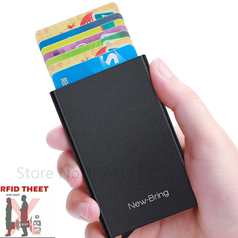 2020 Xiaomi NewBring Card Protector Wallet Holder Slim Metal Body RFID Block Easy Fast Pick Out|Smart Remote Control|   - AliExpress