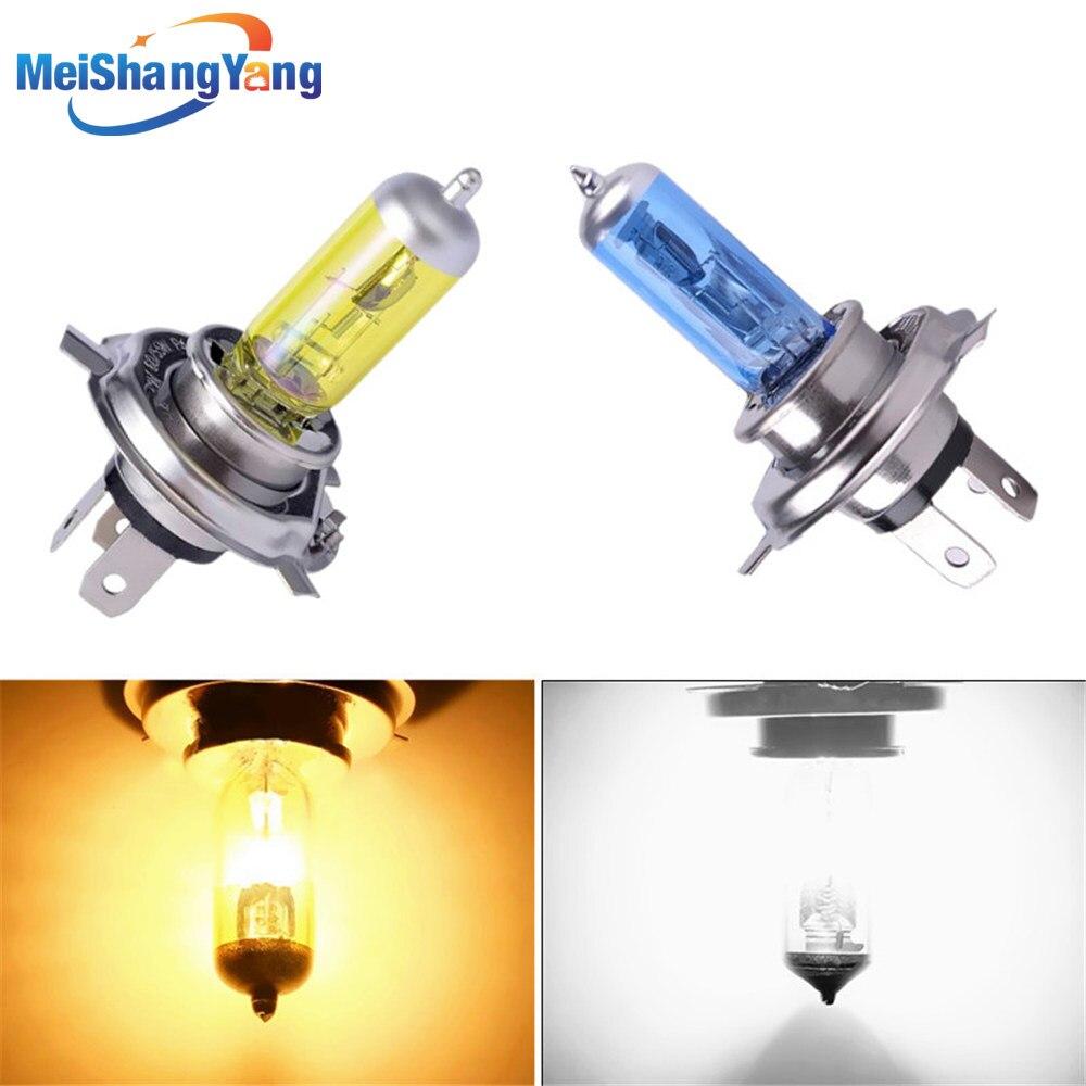 H4 12V 55w 100W lámpara 6000 k/3000 k 12v luces antiniebla blancas/amarillas bombilla halógena faro de coche luces de circulación diurna