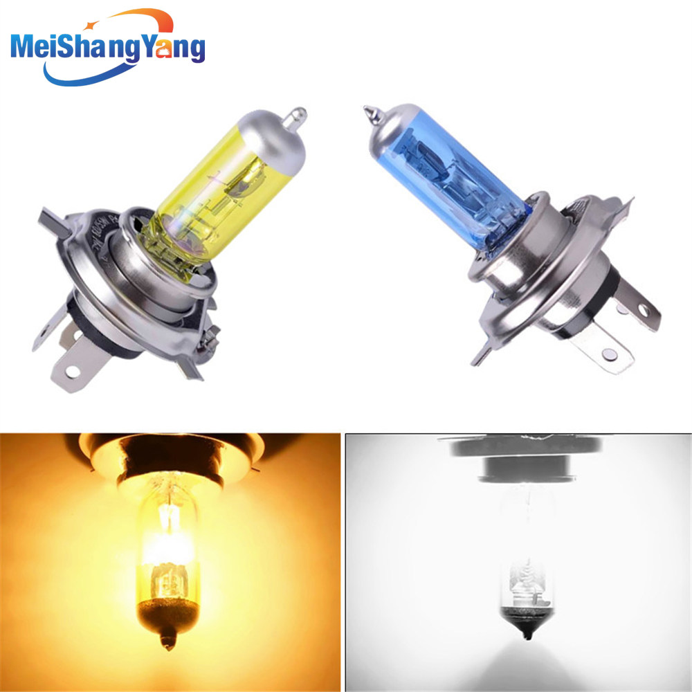 H4 12V 55w 100W Lamp 6000k/3000k 12v White / Yellow Fog Lights Halogen Bulb Car Headlight Daytime Running Lights