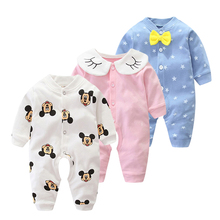 Winter Baby Romeprs Newborn Baby Girl Clothes Long Sleeves Fall Cartoon Toddler Clothes Roupas Jumpsuit Baby Boy Rompers Bebes cheap lucky seed COTTON Polyester geometric O-Neck Pullover Unisex Full YCWJ-1134 Fits true to size take your normal size