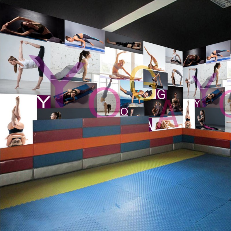 Drop Shipping Wallpaper For Walls 3 D Modern Minimalist High Quality Yoga Beauty Photo Wallpaper Gymnasium Decorative Backdrop