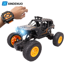 X009 RC Car 2.4G Radio Controlled Car with Watch LED Light  Alloy Drift Remote Control Car Toys For Children Boys Holiday Gifts
