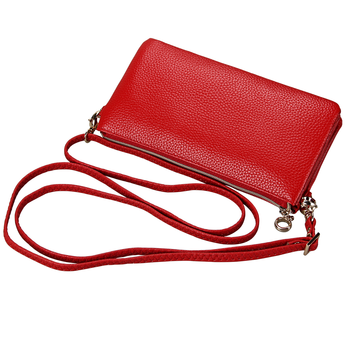 Wallets For Women Luxury Genuine Leather Clutch Phone Credit Card Female Zipper Purse Wallet Bag With Shoulder Strap