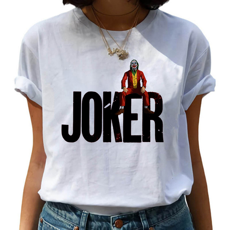 2020 New Female Funny Joker tshirt Women Joaquin Phoenix Harajuku Chucky Horror Tshirt Ulzzang Tshirt Graphic Fashion Top Tee