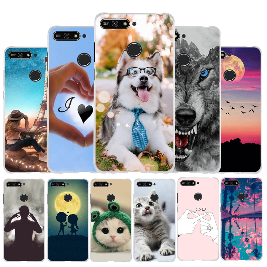 Back <font><b>Cover</b></font> <font><b>For</b></font> <font><b>Huawei</b></font> Honor 7A <font><b>Cover</b></font> Honor 7a Pro Mobile <font><b>Case</b></font> <font><b>For</b></font> <font><b>Huawei</b></font> <font><b>Y6</b></font> <font><b>2018</b></font> / <font><b>Y6</b></font> <font><b>Prime</b></font> <font><b>2018</b></font> <font><b>Case</b></font> Soft TPU Phone Enjoy 8e image
