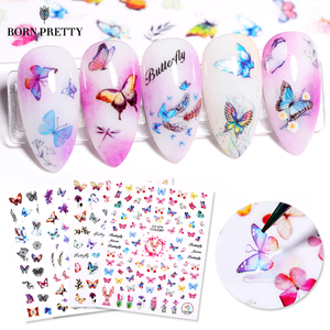 3D Nail Sticker Butterfly Transfer Beautiful Decals Decoration Nail Art Accessories DIY Design