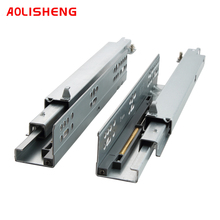 Aolisheng Three-Section Track Concealed Drawer Slide Rail Furniture Cabinet Damping Mute Bottom Mounting Rail
