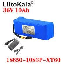 Bateria elétrica liitokala de 36v, 36v, bateria de 42v, 10ah, 18650, para motocicleta, scooter com plug xt60 e carregador 42v2a