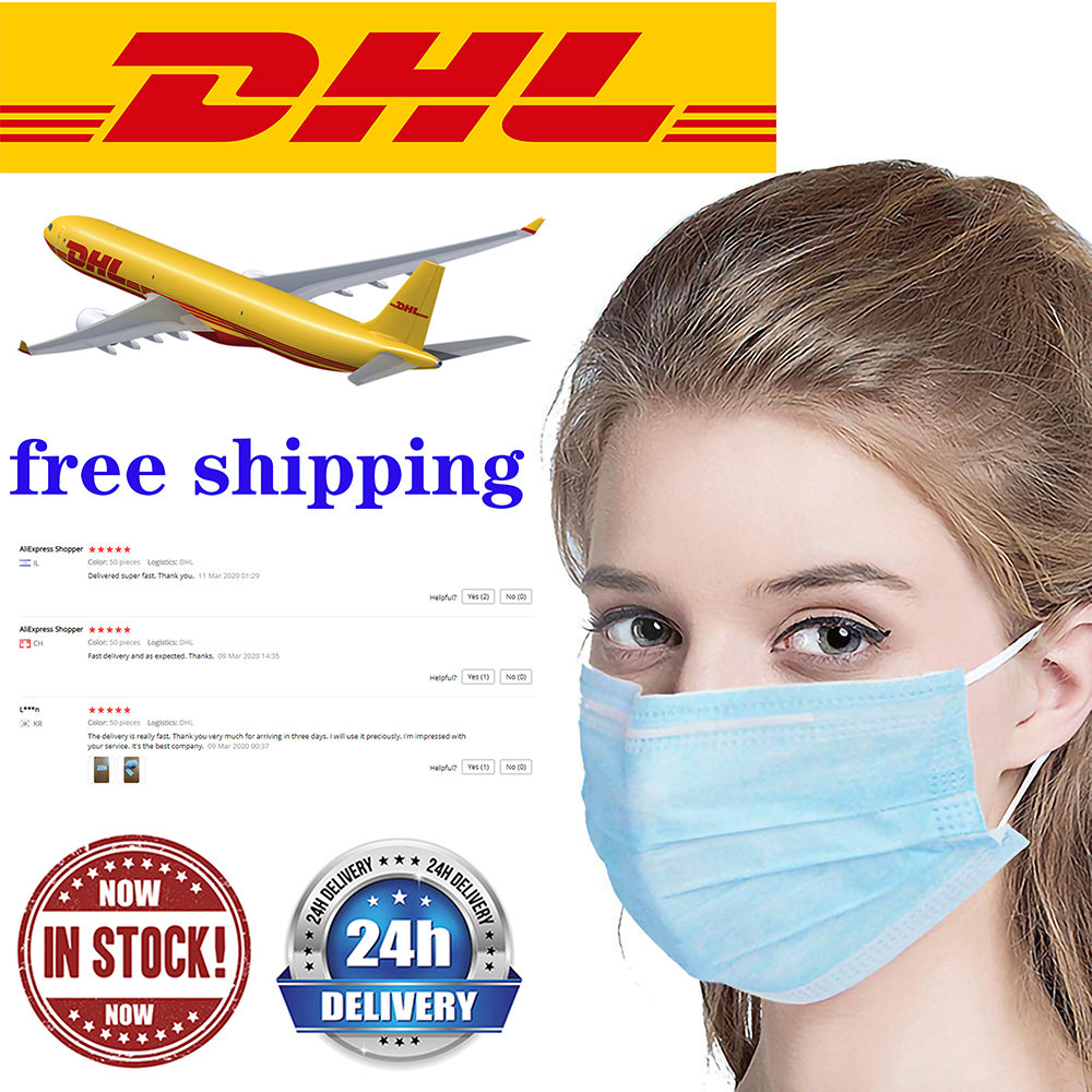 7-15days Delivery 3-Layer Medical Mask Face Masks Activated Carbon Filter  Disposable Face Masks