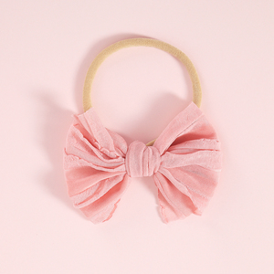 Image 5 - 10 יח\חבילה קשר מבולגן קשת סרט ניילון שיער להקת עבור תינוקת רך ניילון בגימור תינוקות אקססורי לשיער