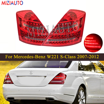LED Rear Tail Light For Mercedes-Benz W221 S-Class 2007-2012 Tail Stop Signal Brake Lamp Rear Fog Reflector lights Warning led rear tail light for mercedes benz e class w212 2009 2013 sedan rear bumper brake light tail stop turn signal warning lamp