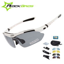 Hot! New 2014 RockBros Polarized Cycling Sun Glasses Outdoor Sports Bicycle ciclismo Bike Sunglasses TR90 Goggles Eyewear 5 Lens цена в Москве и Питере