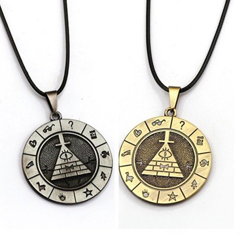 Гравитация Билл время драгоценный камень ожерелье кабошон город чокер коричневое ожерелье s карманные часы кулон ожерелье