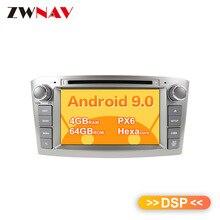Android 9 DSP MAX 64GB Автомобильный dvd-плеер для Toyota Avensis 2002-2008 T250 gps навигация Мультимедиа Радио магнитофон головное устройство