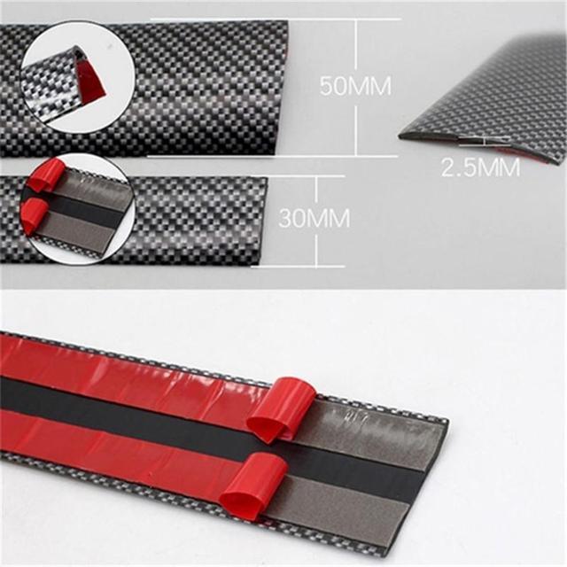 high quality carbon fiber car door sill plate bumper guard protector фотография