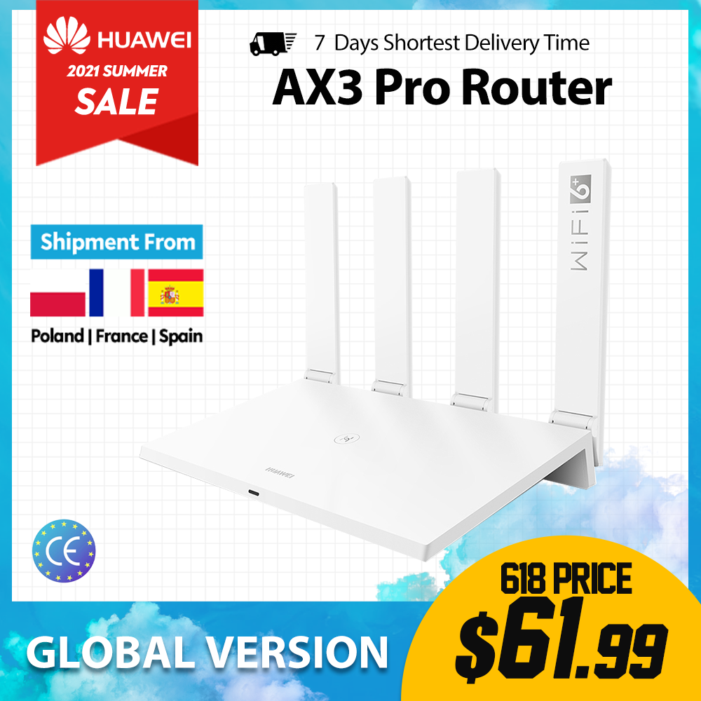 Huawei Router AX3 Pro 2.4G & 5G Quad Core Wifi 6+3000Mbps Wireless Router Amplifier 4g lte Modem Outdoor Load Balancing