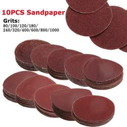 10Pcs/Set 80-1000 Grits 2inch 50mm Polishing Pad Sander Paper Sandpaper Sanding Discs Buffing Wheel Loop Sanding