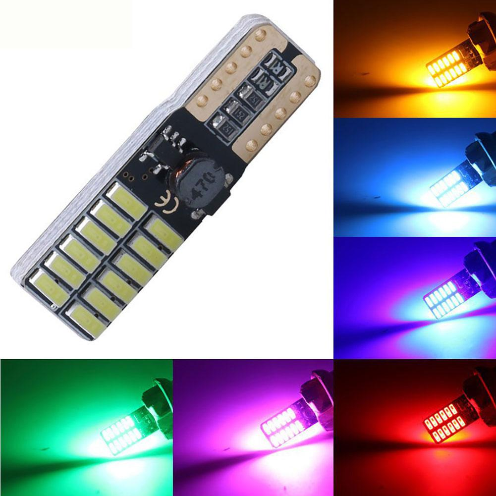 The New W5W T10 24SMD 4014 LED Car Vehicle License Plate Light Clearance Parking Lamp  Car Styling