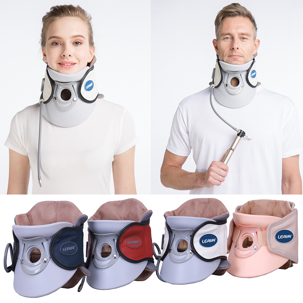 LEAMAI Cervical Neck Traction Inflatable Air Medical Cervical Traction Device Relief Neck and Upper Back Pain Home Neck Massage(China)