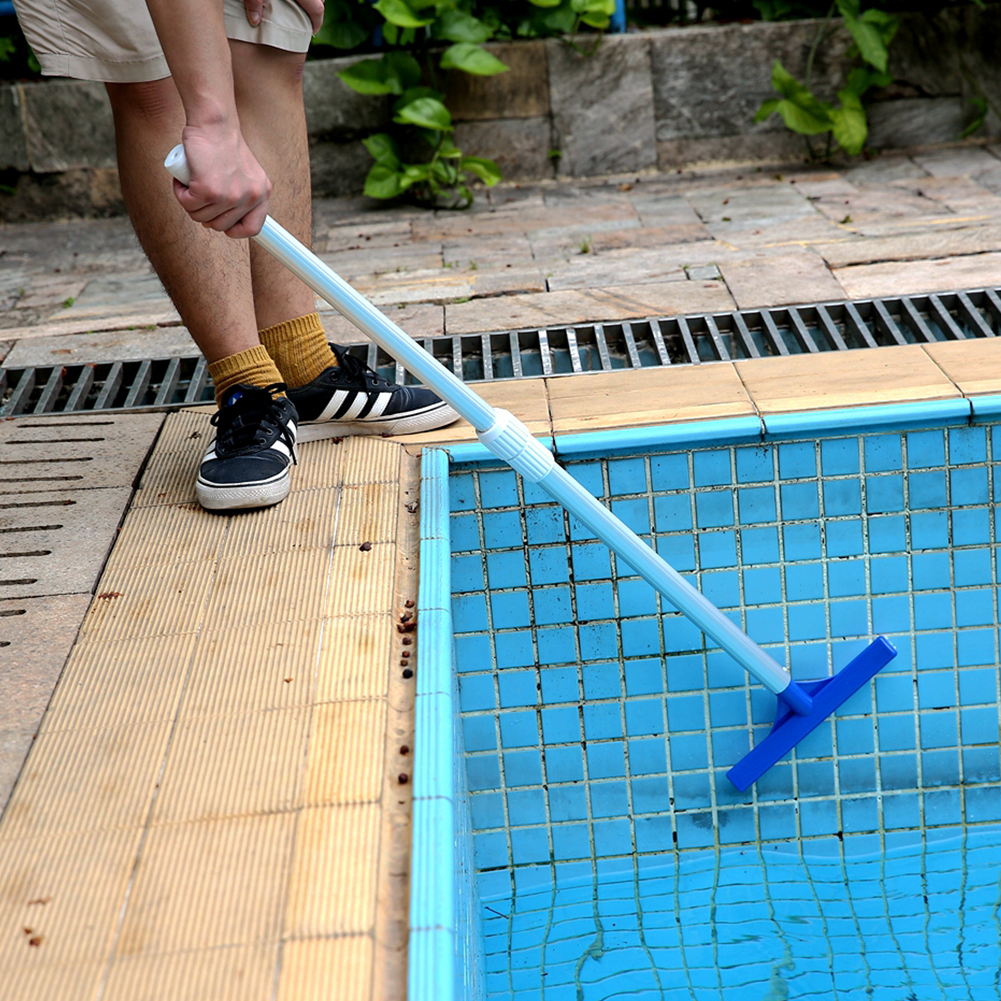 Broom Surfaces Walls Cleaning Brush Tip Cleaner Plastic Accessories 10 Inch Spa Heavy Duty Algae Curved Swimming Pool Portable