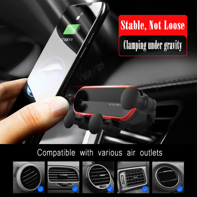 Gravity Invisible Telescopic Car Holder For Phone in Car Air Vent Clip Mount No Magnetic Mobile Phone Holder GPS Stand in Car 2