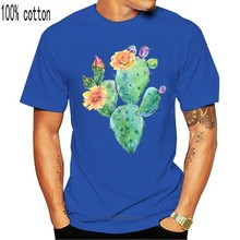Cactus In Dog Paw Shape Ladies T-Shirt Cotton S-3Xl Loose Size Top Ajax Tee Shirt